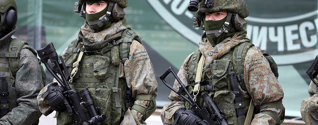 VDV units wearing the classical EMR camouflage with the special 6sh22 suit