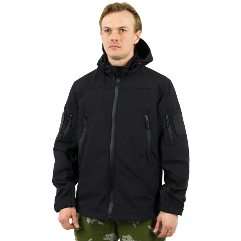 Military Softshell Jacket Black