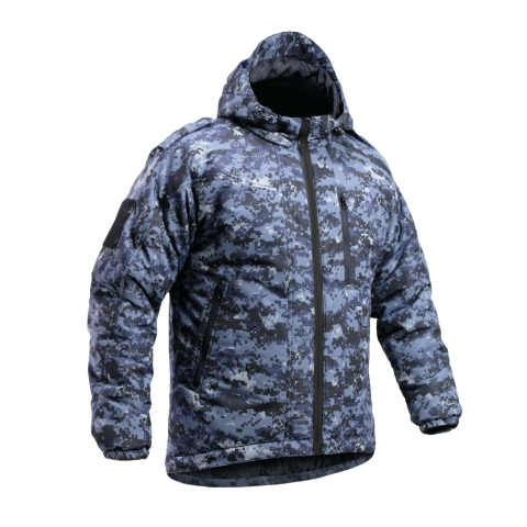 Camo Jacket Blue Waterproof