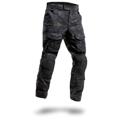 Black Multicam Combat Pants