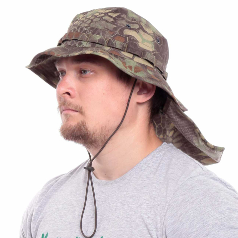 Camo Boonie Hat With Neck Flap