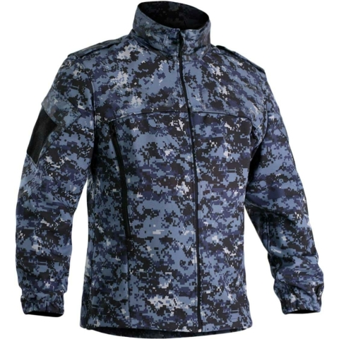 blue digital camo jacket