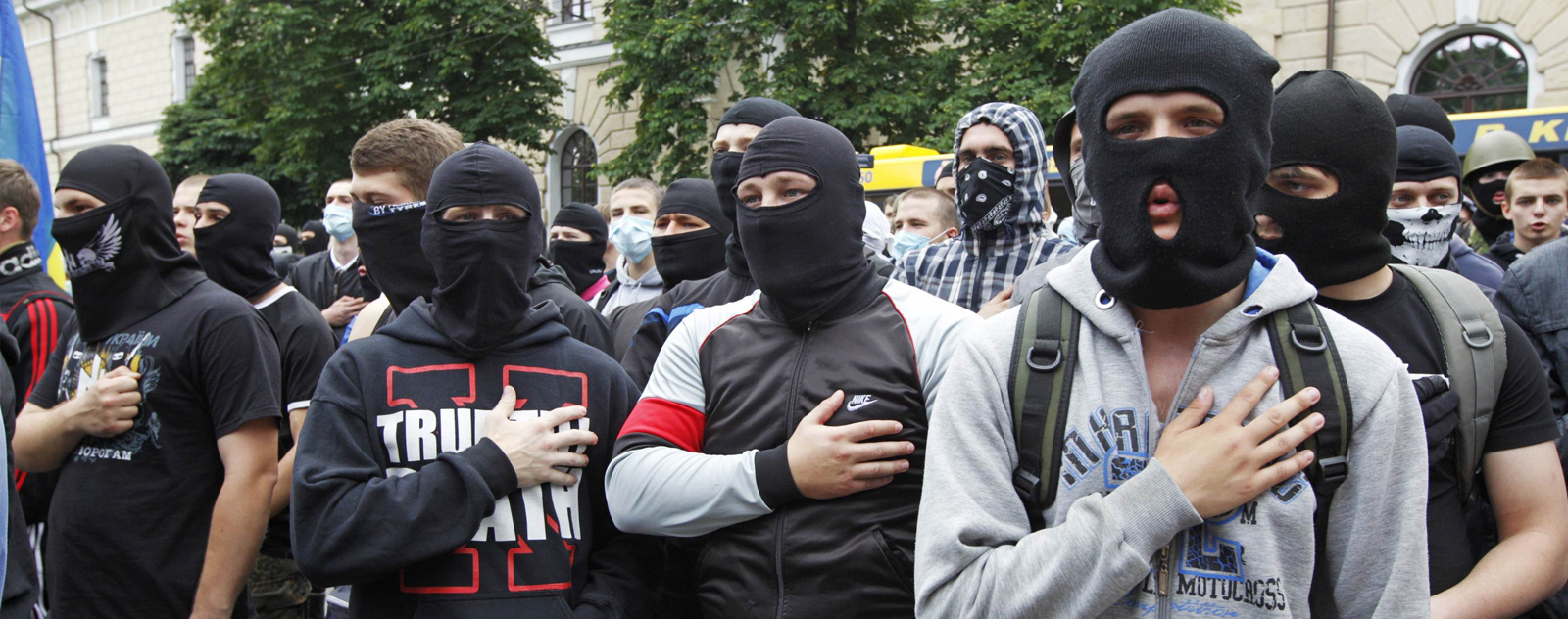 Wear a balaclava in public